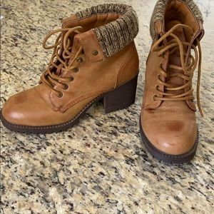Celebrity lace up ankle boots. Never worn